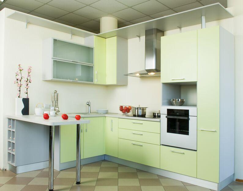 Kitchen Decor Idea Green Kitchen Cabinets Pictures