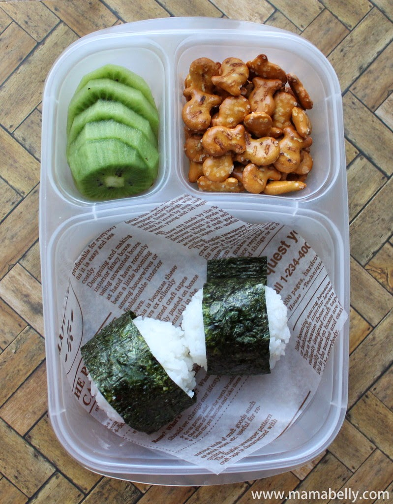 Onigiri School Lunches in Easylunchboxes - mamabelly.com