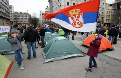 Protests in Belgrade will continue until the Government refuses the Kosovo ultimatum