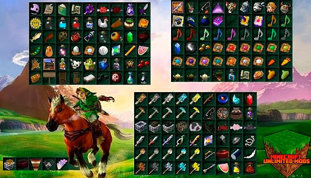 Ocarina of Time y Majora's Mask Texture Pack items