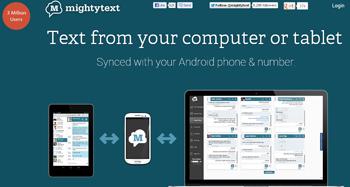 envía mensajes gratis con Mighty text - www.dominioblogger.com