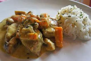 Sauté de veau aux carottes des sables et ses champignons