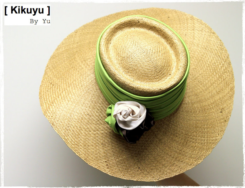 Millinery straw hat