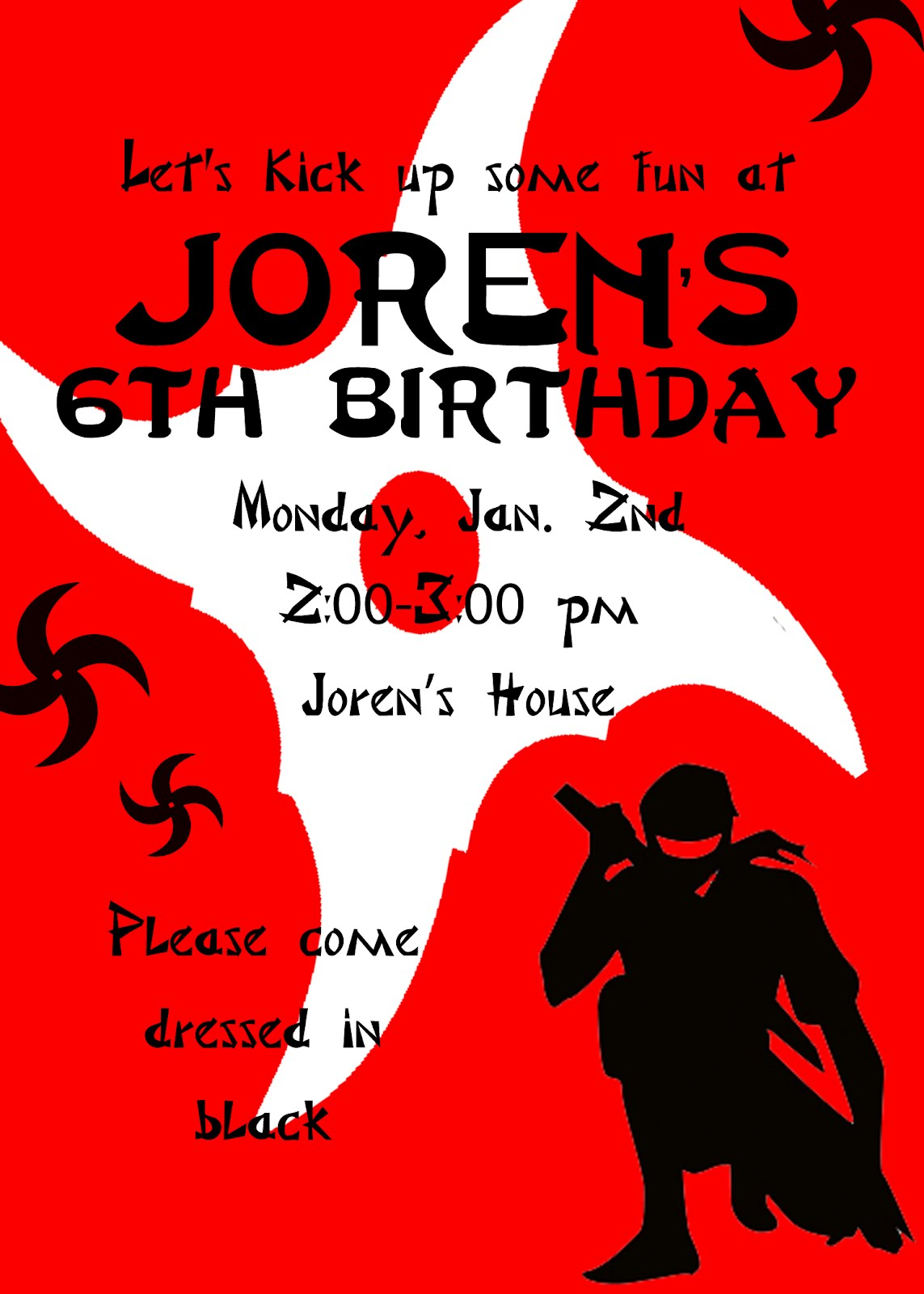 ninja birthday invitations - Vatoz.atozdevelopment.co