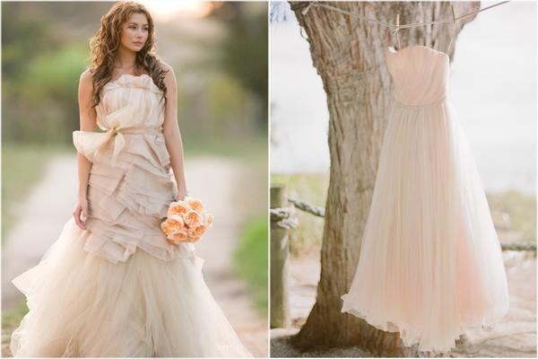 Parentesi wedding blog nude look da sposa for Pink champagne wedding dress