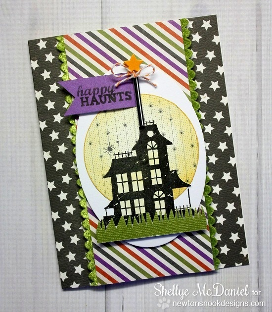 Haunted House Halloween card by Shellye McDaniel for Newton's Nook Designs | Spooky Street Stamp Set