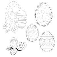 ovos pascoa colorir