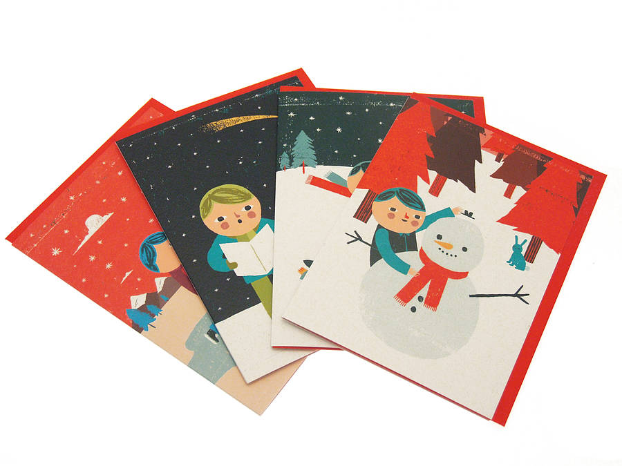 choose from our ben javens noel and woodland ranges each pack contains 8 cards 2 of each design - Christmas Card Packs