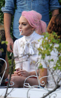 Lindsay Lohan Pink Hair Picture
