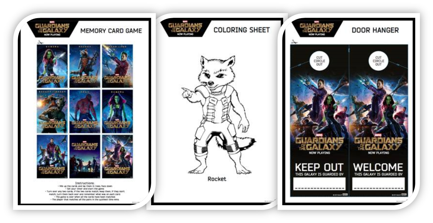 Create Your Own Milano Spaceship Console & More   Guardians of the Galaxy Coloring and Activity Sheets #GOTG