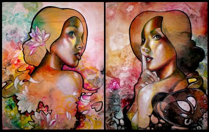 'Lotus Blossom' and 'Dragon Lady' by Allison Torneros