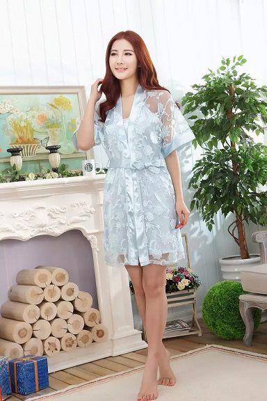 gambar Baju Tidur Lingerie Sl1210 Soft Blue