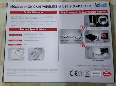 Aztech WL562USB 150MBPS High Gain Wifi Adapter