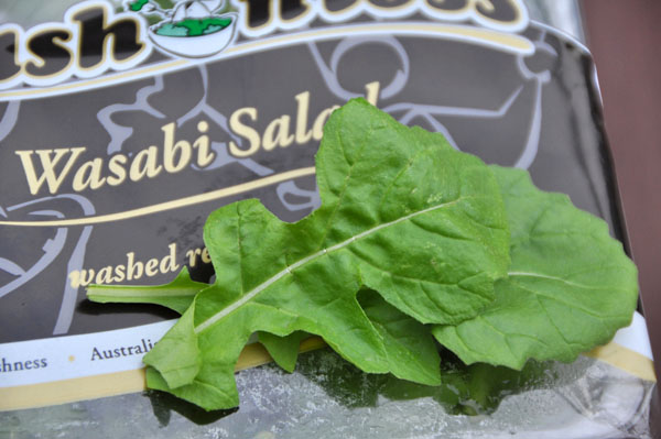 wasabi salad leaves
