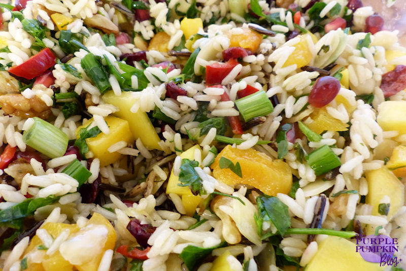 Easy #Vegetarian #Salad for #Christmas - Jewelled Rice Salad
