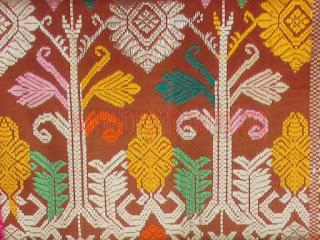 Contoh kain songket sidemen campuran
