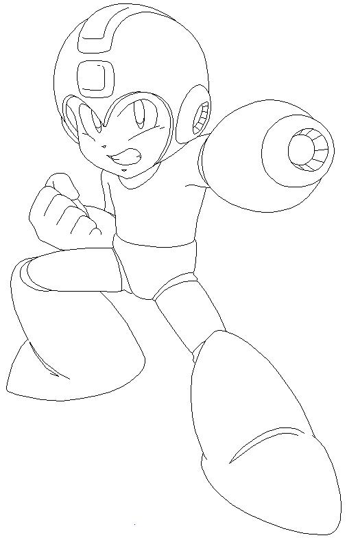 Free Megaman Para Colorear Coloring Pages