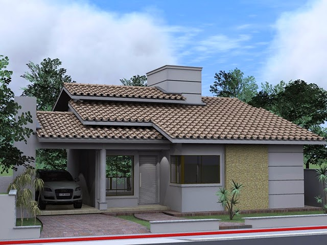 Fachadas de casas simples bonitas e pequenas decorsalteado for Ver casas modernas