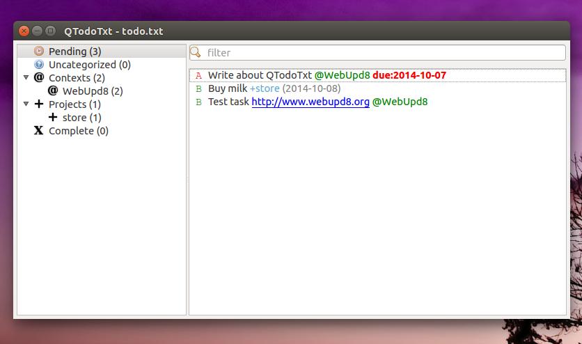 QTodoTxt Linux