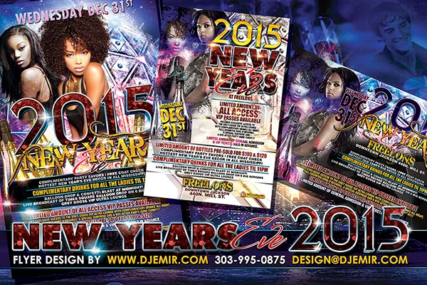 Freelon's New Year's Eve 2015 Flyer Design