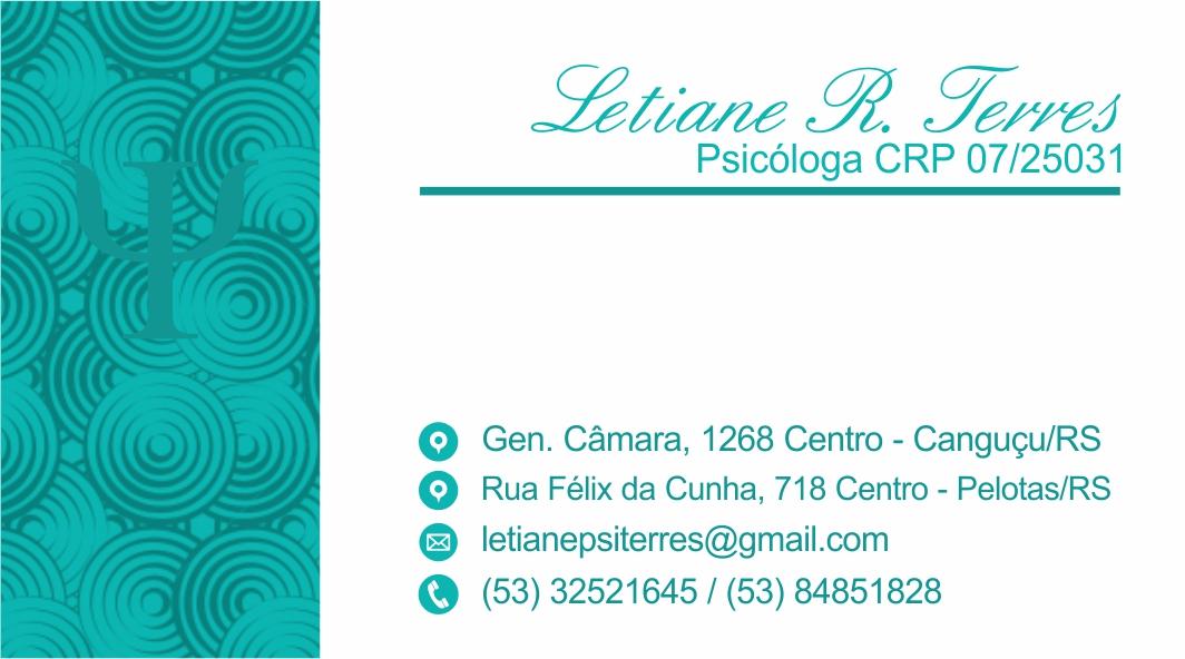 Psicóloga Letiane Terres