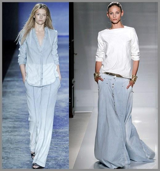 jeans claro tend~encia da moda 2012