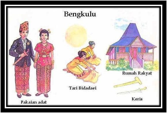 tari senjata pakaian tradisional dan rumah adat