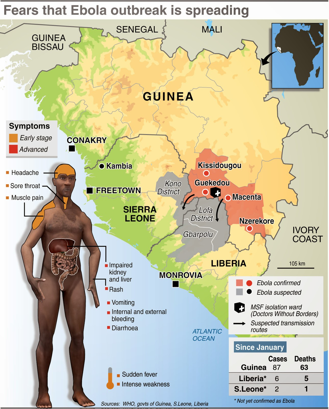 this meeting is promising but there is a real risk that ebola will spread other west african countries must heed the lesson of guinea sierra leone