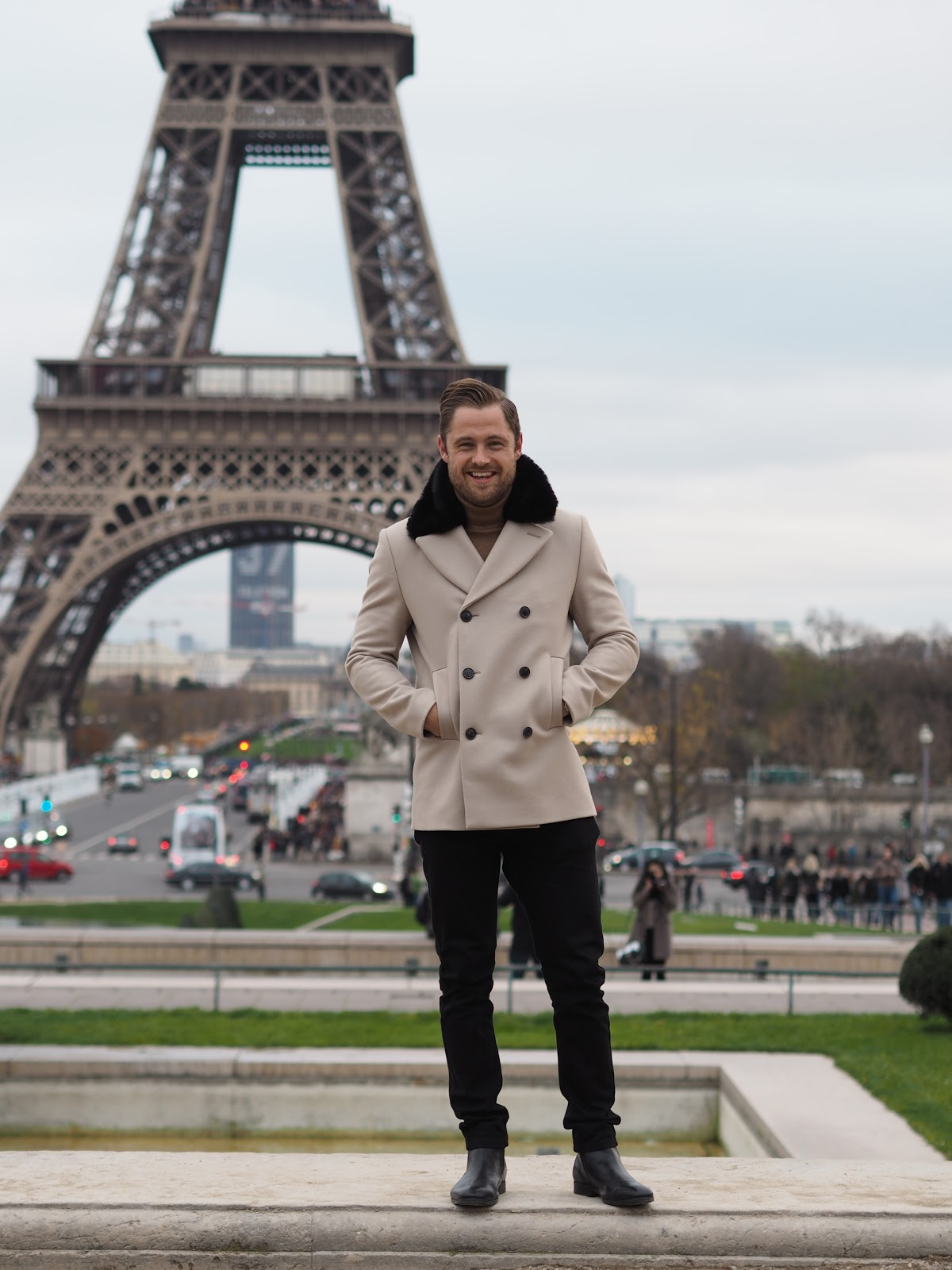 Man, Ben Heath, Twenty First Century Gent standing outside the Eiffel Tower, Paris