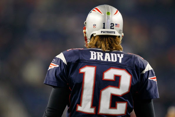 tom brady back of jersey