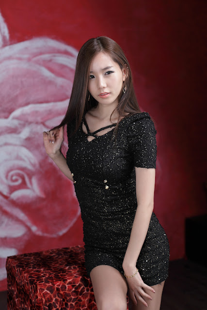 5 Lee Ji Min - Sparkle Black Mini Dress-very cute asian girl-girlcute4u.blogspot.com