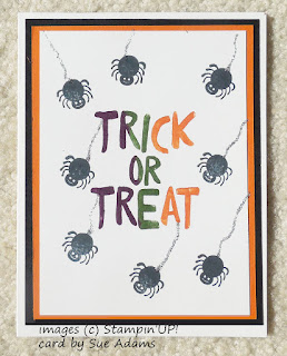 Spider Halloween Card made with Stampin'UP!'s Howl-o-ween Treat Stamp Set