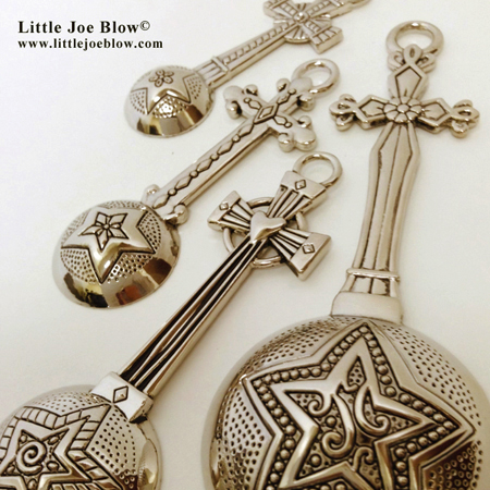 Dash of Love, Joy, Faith & Hope | Cross Measuring Spoons sold by Little Joe Blow photo 1