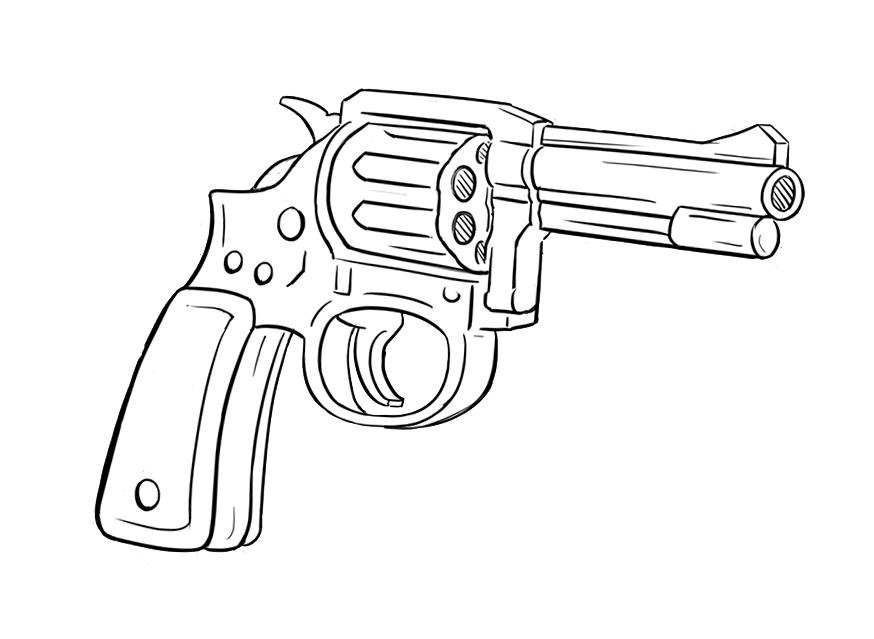 Gun Pencil Drawings Gun Drawing In...520 x 308