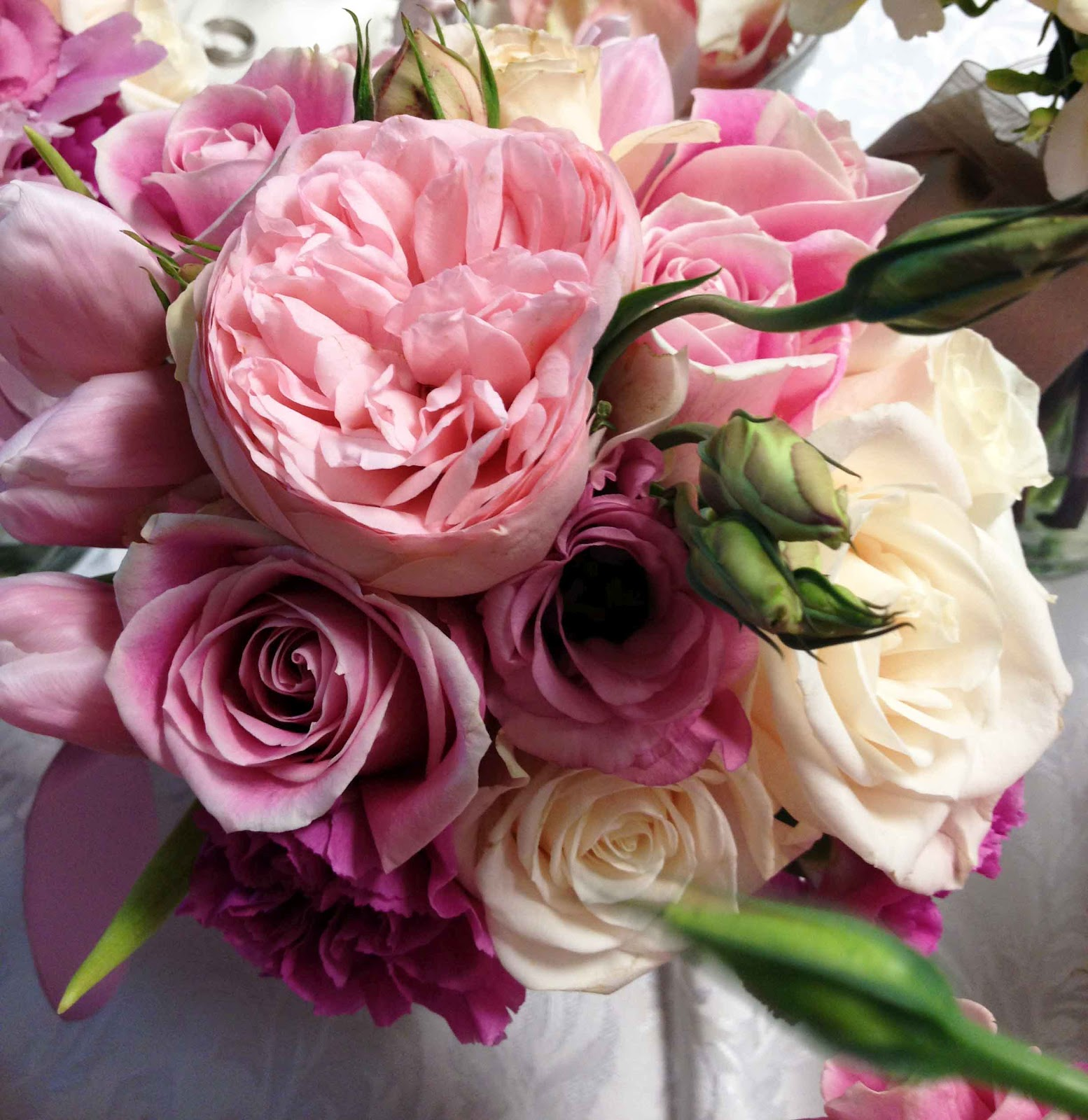 Wedding Bouquets With Lisianthus : Bridal bouquet roses and lisianthus weddings bouquets for brides