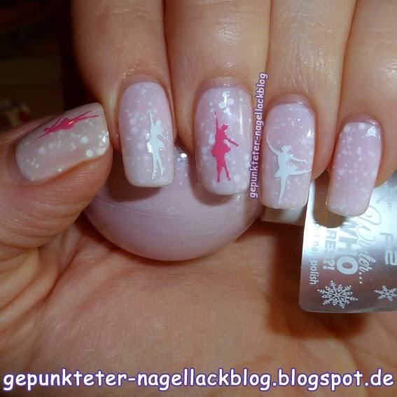 Gepunkteter-nagellackblog Nageldesign Rosa Ballerina
