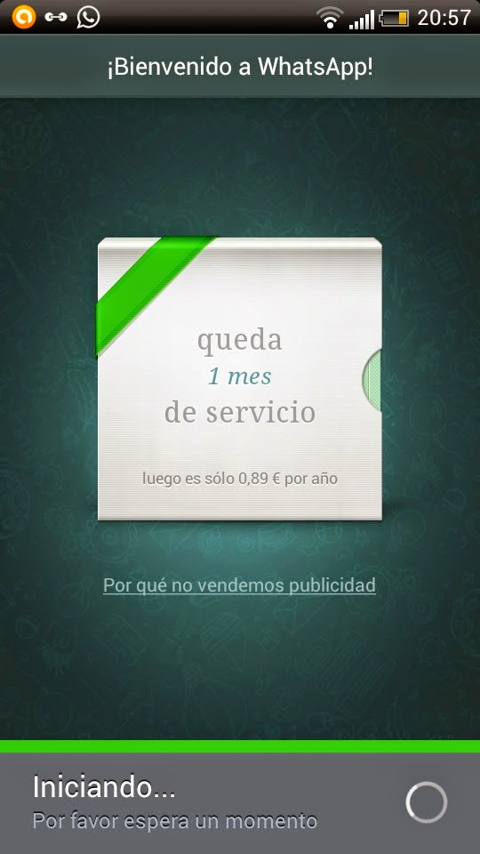 error iniciando whatsapp
