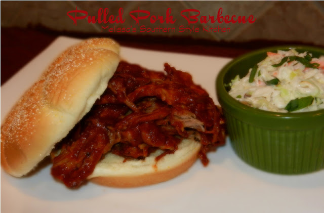 Slow Cooked Pulled Pork Barbecue - melissassouthernstylekitchen.com