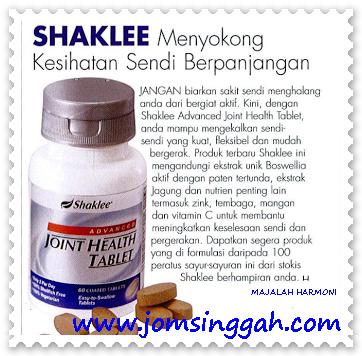 Shaklee menyokong kesihatan sendi secara berpanjangan
