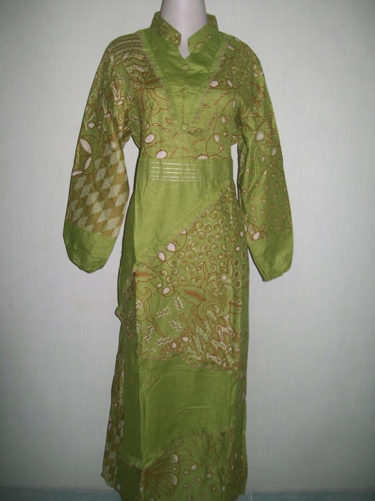 Baju Batik Muslimah Modern Abaya Gamis Batik Model Terbaru