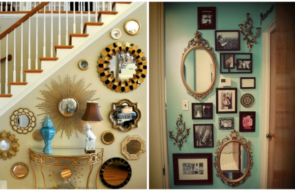 A moodboard comes to life young house love for Mirror collage wall