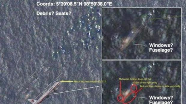 Pesawat MH370 Yang Dijumpai Oleh Satelit Australia?