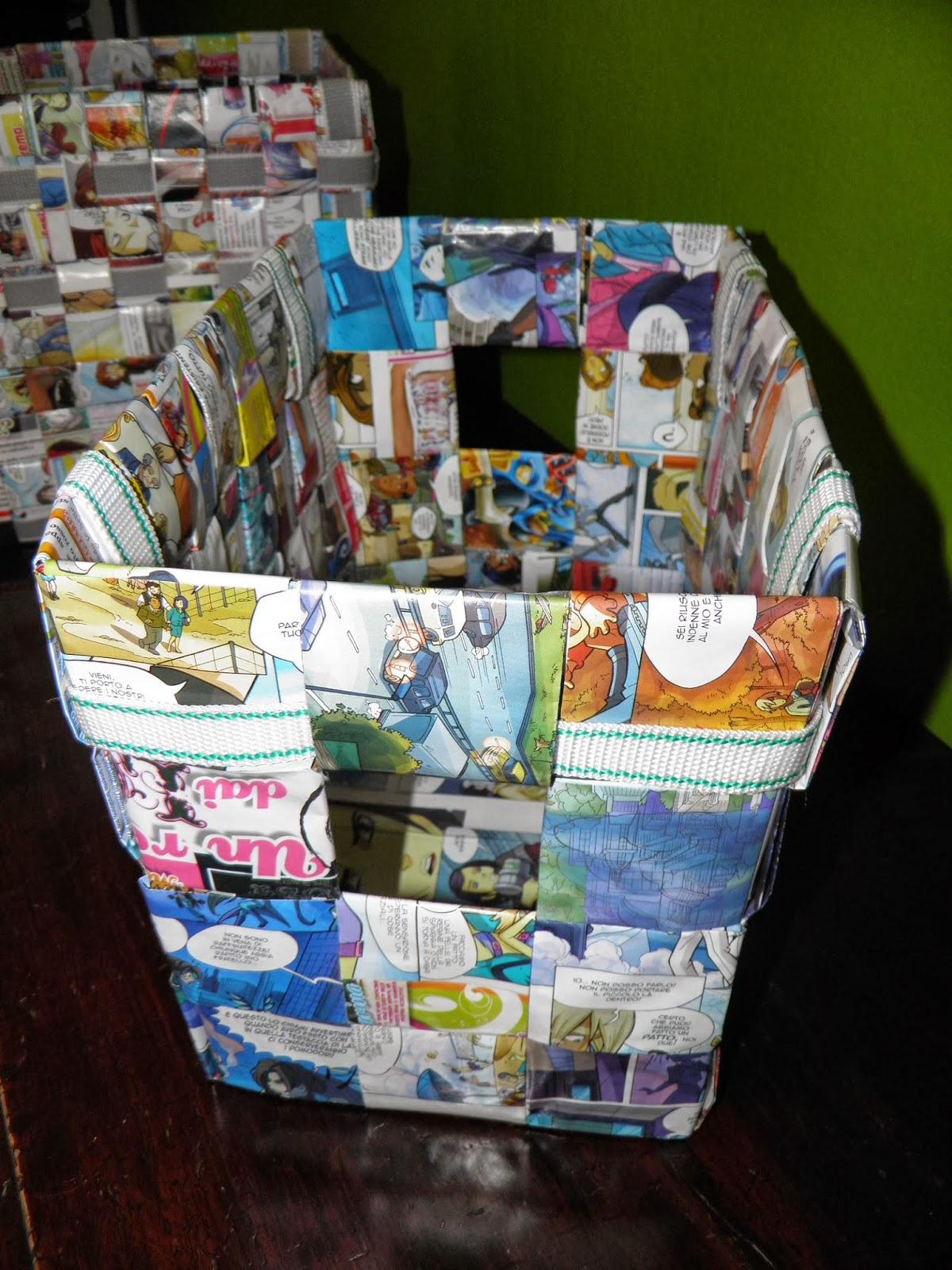 Scatole porta tutto realizzate con riviste dei bambini - Scatole porta viti ...