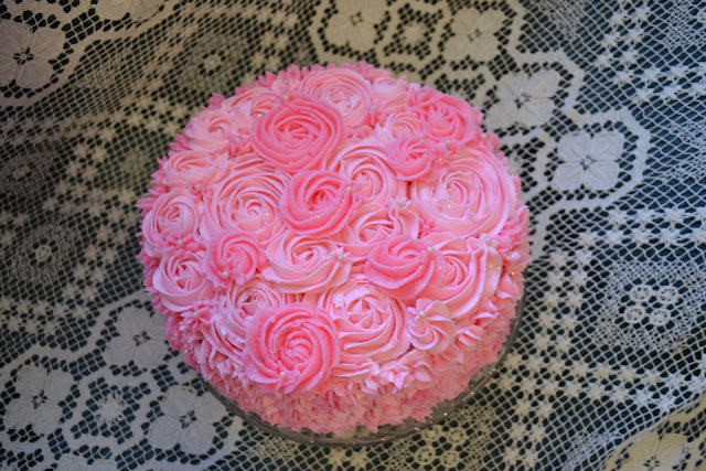tarta  Rosas Buttercream