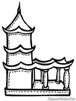Gambar Kuil Budha Untuk Diwarnai