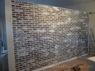 The not so secret life of jennifer nicole faux brick wall - Textured brick wall panels ...