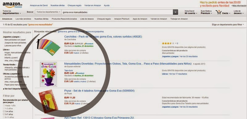 buscar productos en amazon
