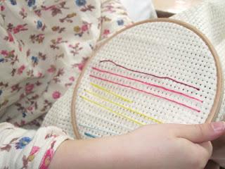 Binca with an Embroidery Hoop