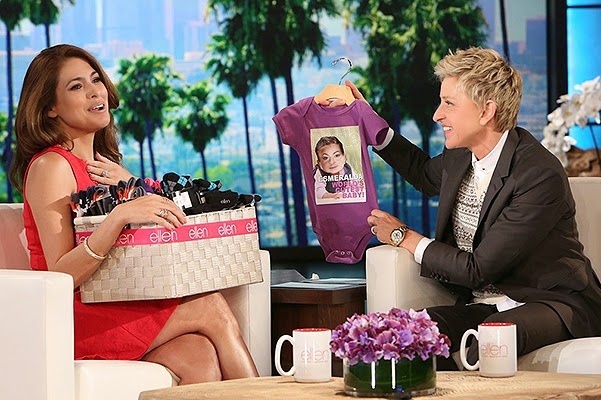 Ellen DeGeneres shared with the audience the photo daughter Eva Mendes and Ryan Gosling