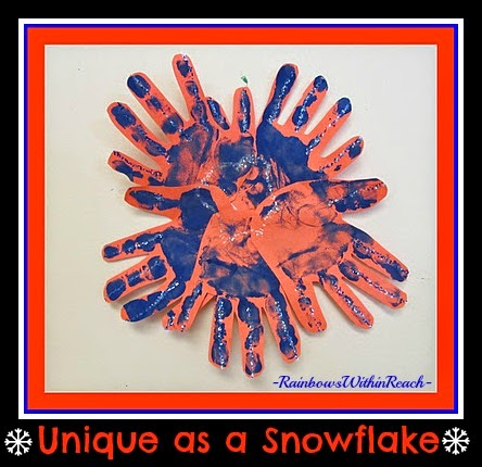 Hand Prints as Snowflakes at RainbowsWithinReach